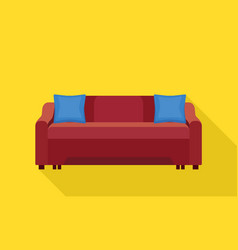 textile sofa icon flat style vector image
