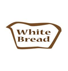 White bread outline icon vector