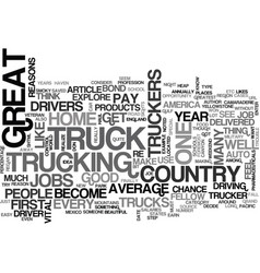 why become a truck driver text word cloud concept vector image