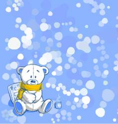 winter time vector image