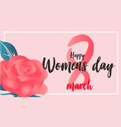 women day flower vector image