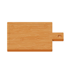 wooden cutting board on white background vector image