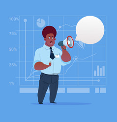 african american business man hold megaphone vector image