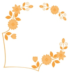 Frame hand drawing florals vector image vector image
