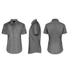 mens black short sleeve vector image vector image