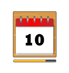 On the tenth day in the calendar vector image vector image