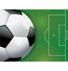 Soccer Ball on Grass Textured Field vector image vector image