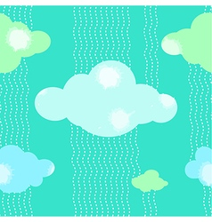 Green Clouds Pattern Background vector image vector image