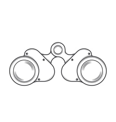 Military Old Binocular vector image vector image