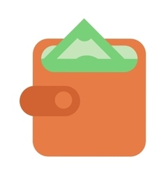 Money wallet vector image