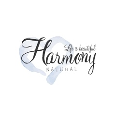 Natural Harmony Beauty Promo Sign vector image vector image