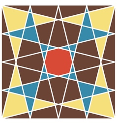 retro geometric pattern 1 vector image