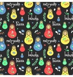 Russian traditional style toys babushka vector image vector image