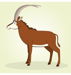 Sable antelope vector image vector image