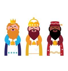 three wise men vector image vector image