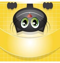 cat invitation background vector image