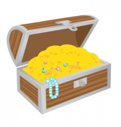 chest of treasures vector image vector image