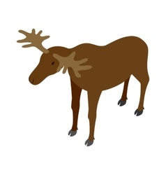 Deer icon isometric 3d style vector image