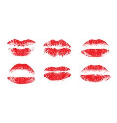 female beautiful lips lipstick kiss vector image
