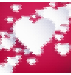 Geometric Mosaic Hearts Template EPS 10 vector image vector image