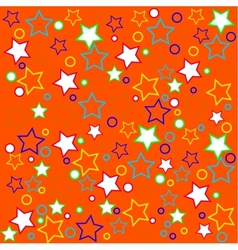 Package design with colored stars vector image vector image