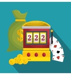 slot machine casino icon vector image