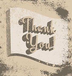 Thank you poster vector image