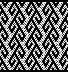 tribal ethnic monochrome seamless pattern vector image vector image