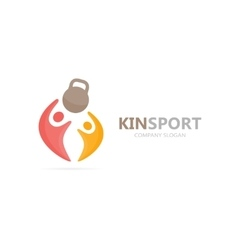 Sport and people logo combination fitness vector