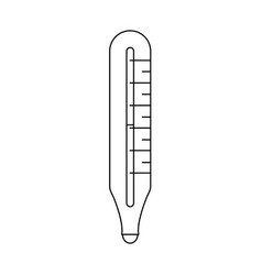 thermometer isolated symbol vector image