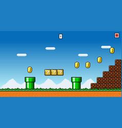 8 bit pixel art platformer game asset vector