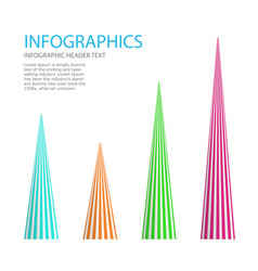 abstract infographics template business data vector image