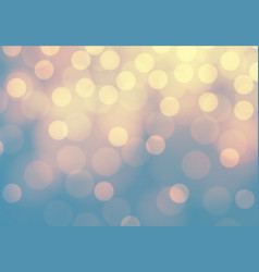 Abstract yellow bokeh light on blue luxury backgro vector