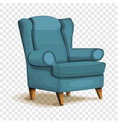armchair icon cartoon style vector image
