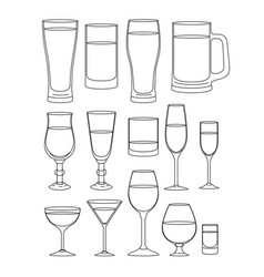 Best drinks set icons vector