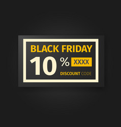 Black friday 10 percent discount coupon vector