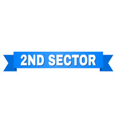 Blue ribbon with 2nd sector title vector
