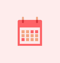 calendar icon best icon with flat design vector image