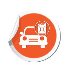 Cars canister ORANGE LABEL vector