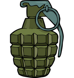 cartoon doodle grenade vector image
