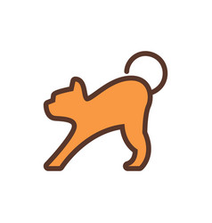 cat animal logo icon design vector image
