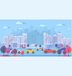 cityscape with large modern buildings urban vector image