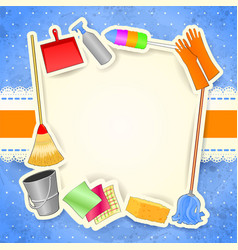 cleaning background with copy space vector image