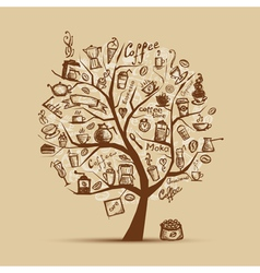 Cofee time Art tree for your design vector image