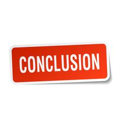 Conclusion square sticker on white vector