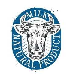 cow logo design template milk or farm icon vector image