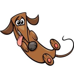 cute happy dog cartoon vector image