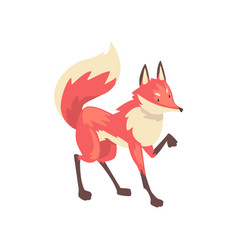Cute sneaking red fox character cartoon vector
