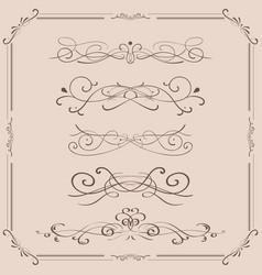 decorative ornaments vector image