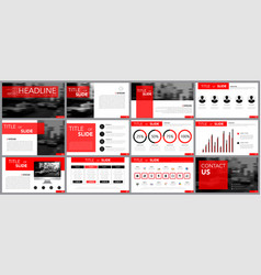 Design element of infographics for presentations vector
